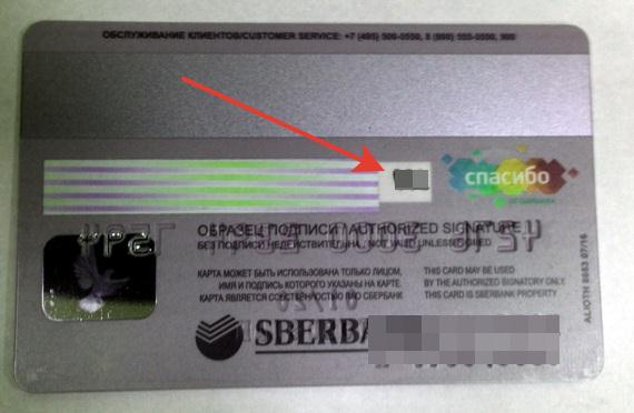 Код безопасности CVV2 на карте виза