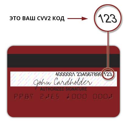 Код безопасности предназначен для идентификации владельца карты